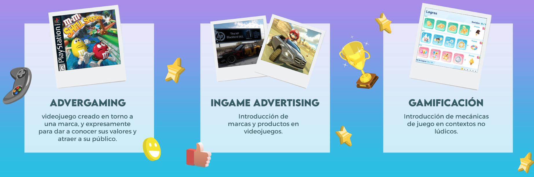 Videojuegos, videopublicidad: Advergaming, Ingame Advertising o gamificación